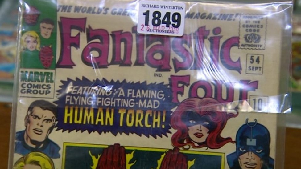 Marvel Fantastic Four comics auctioned in Lichfield