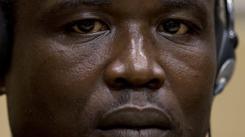 Dominic Ongwen, ante el tribunal.
