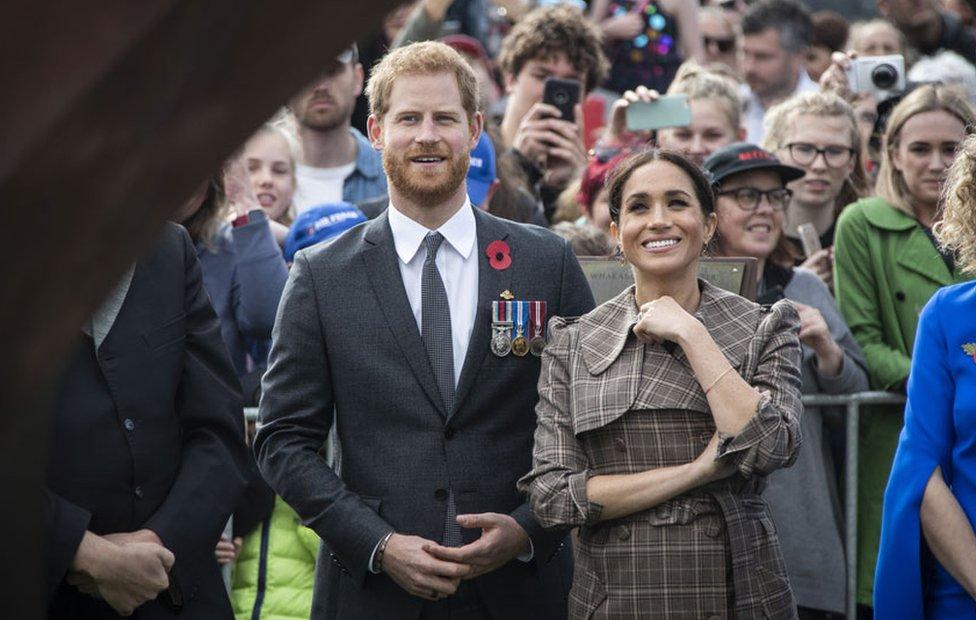 The duke and duchess at the Pukeahu National War Memorial