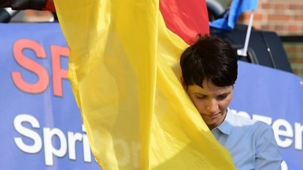 Alternative for Germany (AfD) party chairwoman Frauke Petry