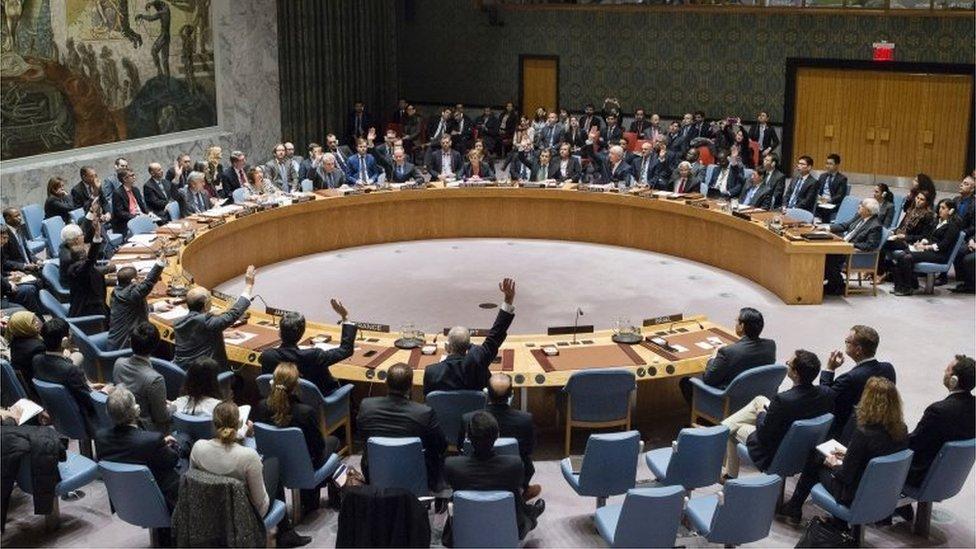 جلسة تصويت في مجلس الأمن
