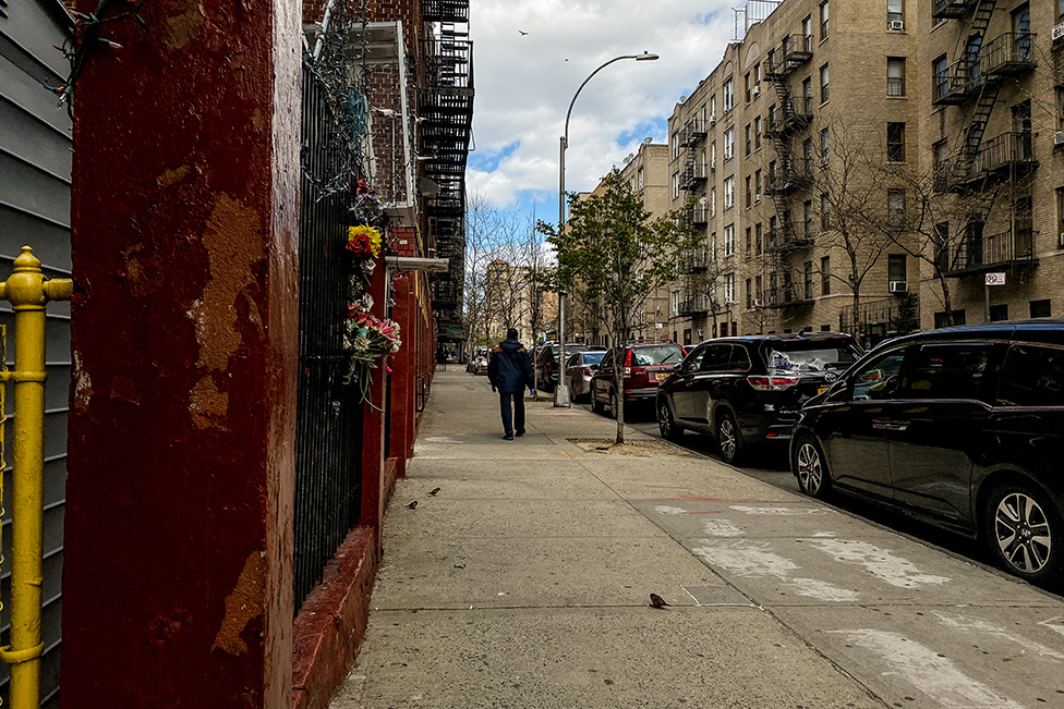 Empty streets in the Bronx