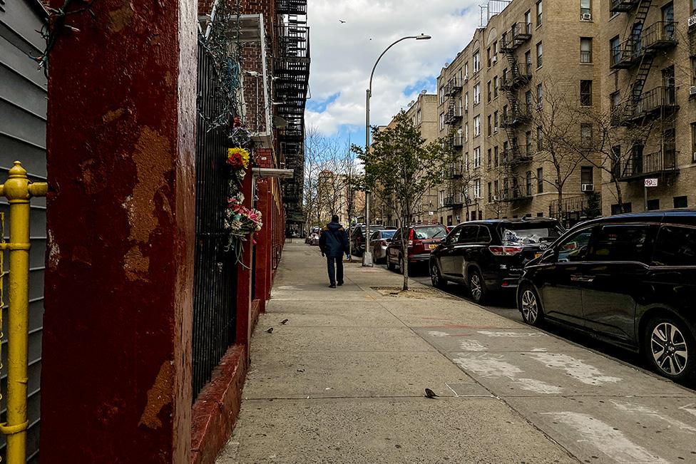 Una calle vacía en el Bronx