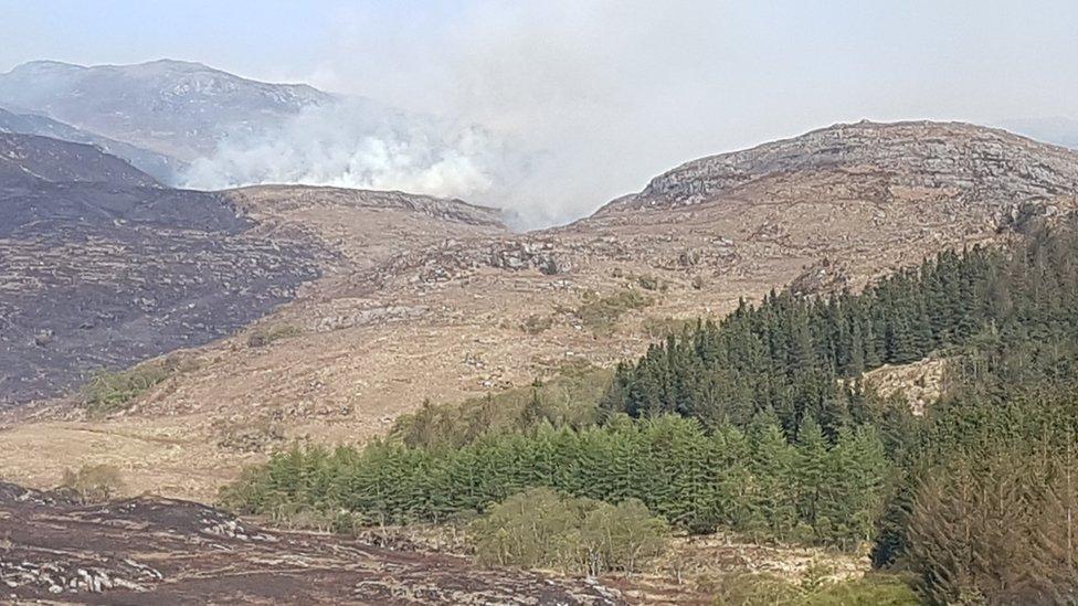 fire near Loch Kishorn