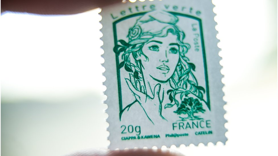 Marianne graces France's national stamps