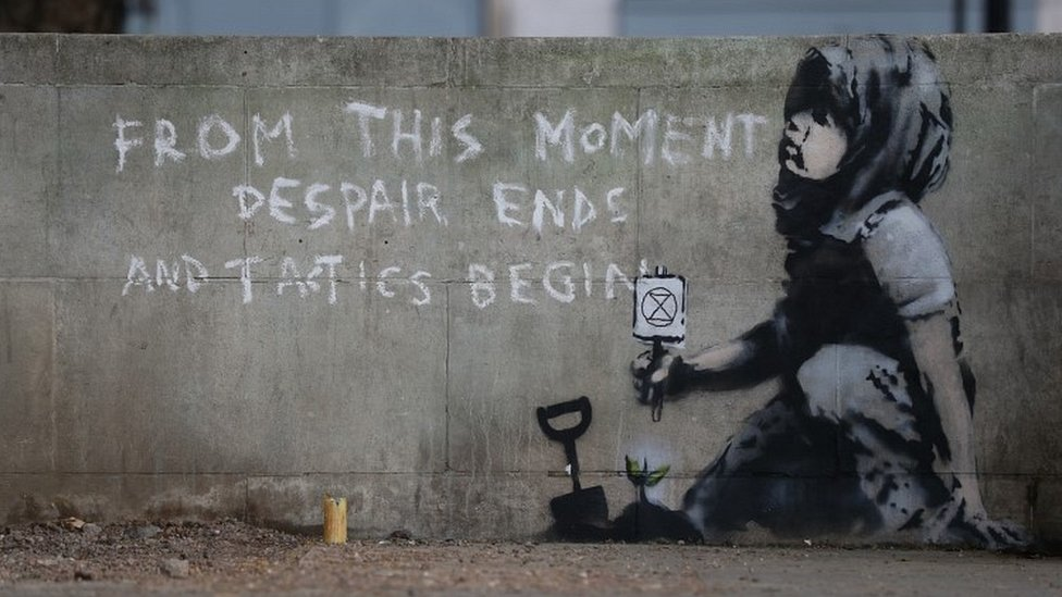 Extinction Rebellion: Did Banksy join climate activists?