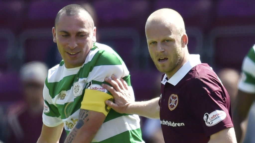 Celtic's Scott Brown and Hearts' Steven Naismith will not face punishment