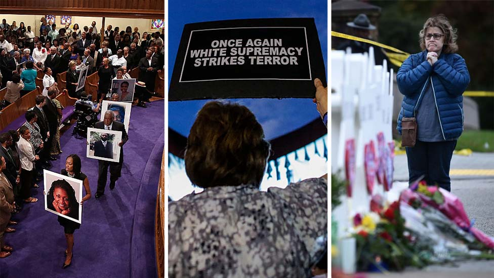 Vigils from various white supremacist attacks