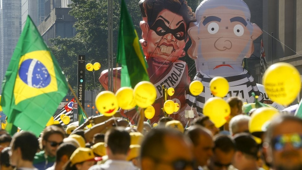 Anti-government demonstration in Sao Paulo