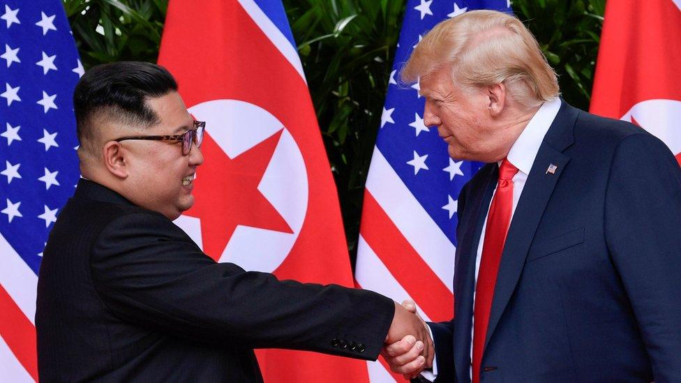 Kim Jong-un y Donald Trump en su encuentro en junio en Singapur