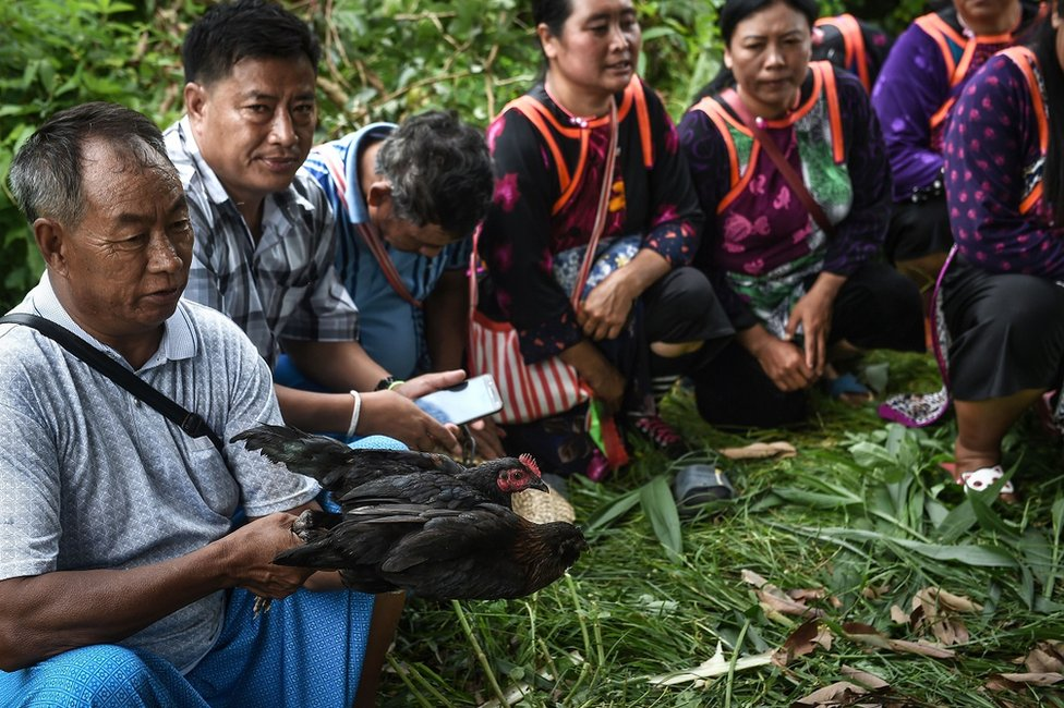 Ethnic Lisu tribespeople hold a ritual in Khun Nam Nang Non Forest Park