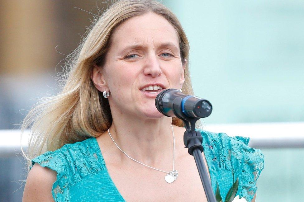 Kim Leadbeater, the sister of Jo Cox, in Batley