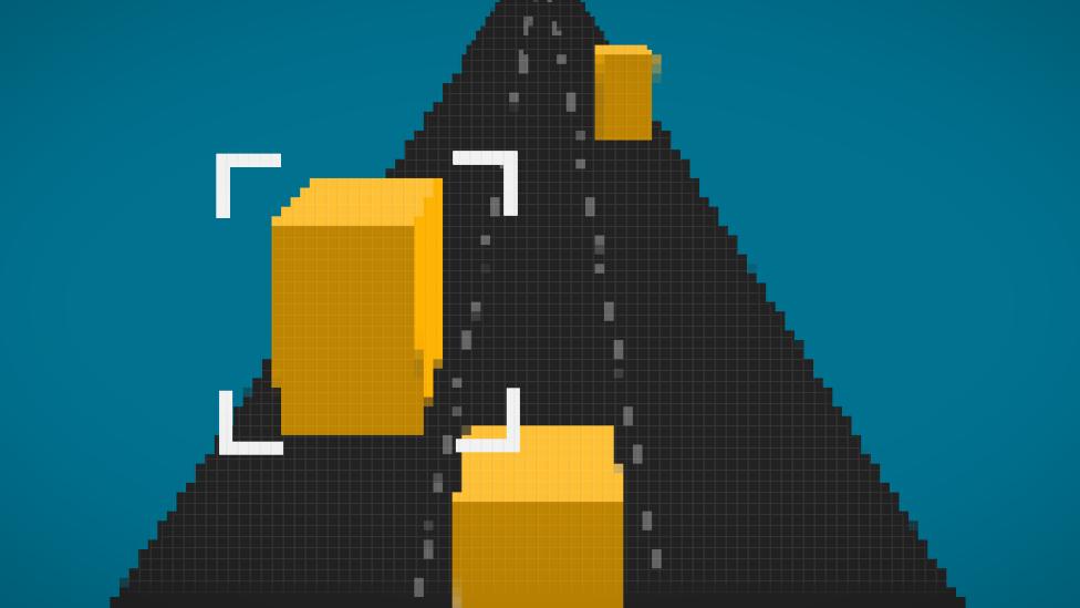 Ilustración mostrando cómo se marca un video de autos moviéndose