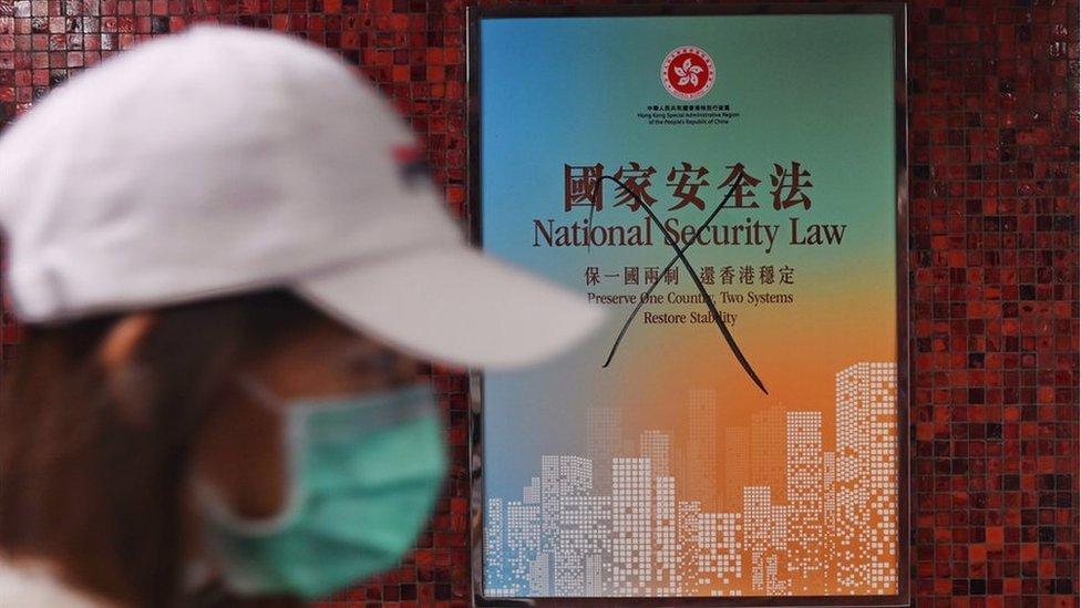"""香港政府強調,香港《國安法》不會影響當地人""""依法享有的各項基本權利和自由""""。"""