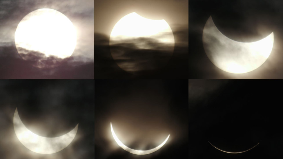 The eclipse as seen from Belitung, Indonesia