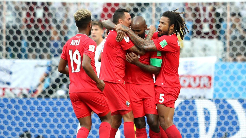 World Cup 2018: Panama celebrate pulling a goal back against England
