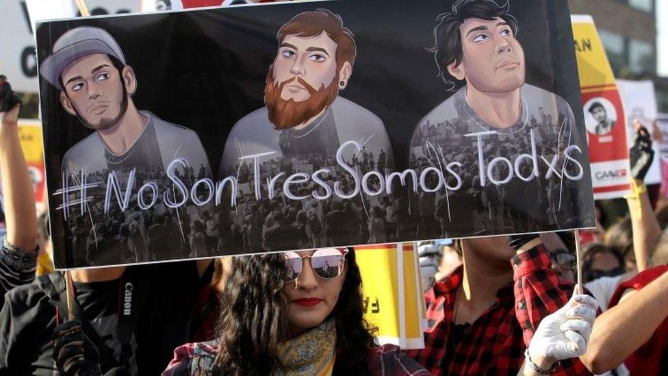 Una protesta en Guadalajara