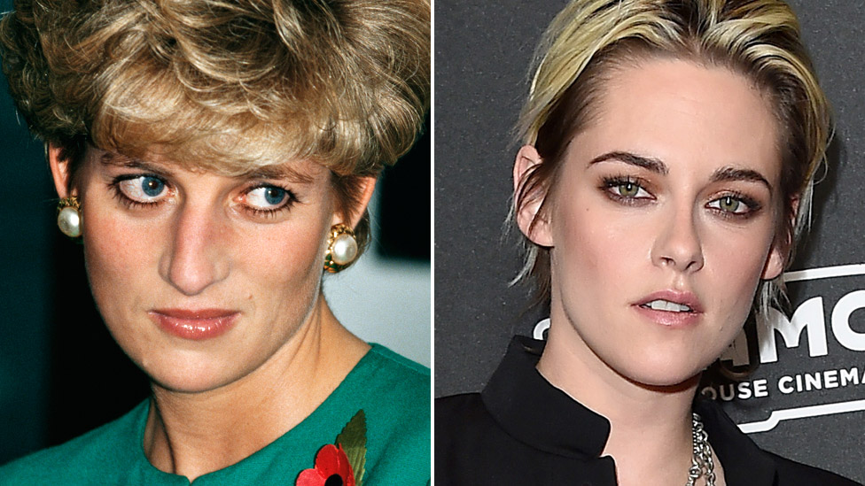 Princess Diana (left) and Kristen Stewart