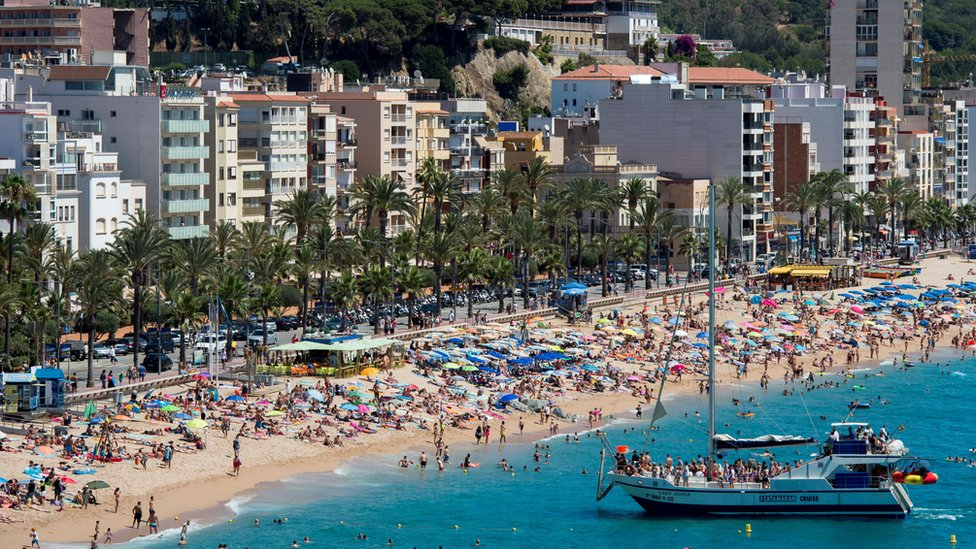 The Catalonian coastal city of Lloret de Mar