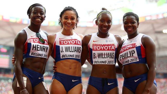 Great Britain's 4x100m women's relay team