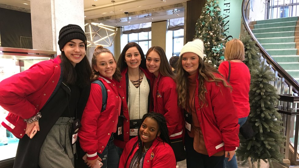 Members of the Denison Stingerettes at Tiffany's