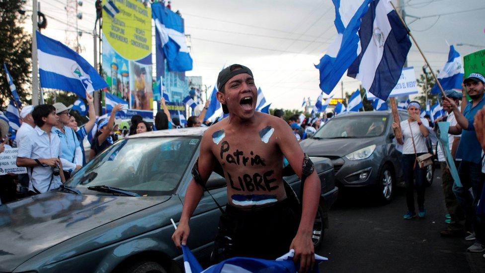 Una manifestación en Nicaragua