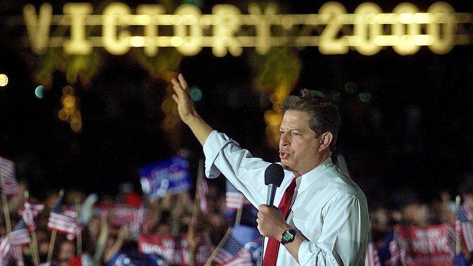 Al Gore en un mitin en Miami