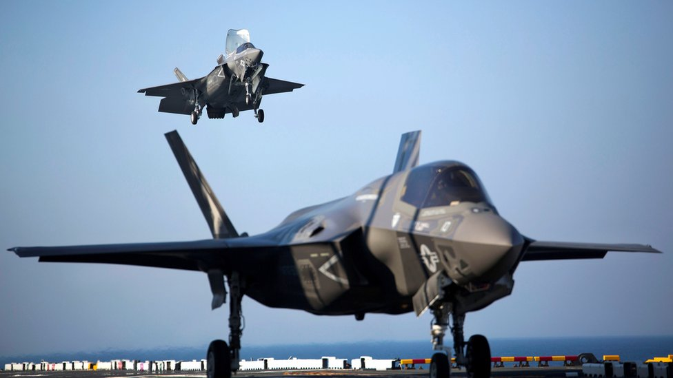 F-35B jets aboard the USS Wasp, 18 May 2015