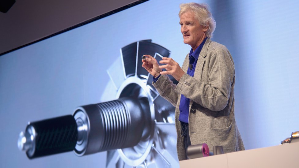 James Dyson at product launch
