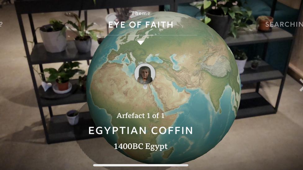 Screenshot of Civilisations AR app interface