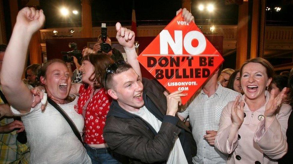 Ireland rejects Lisbon treaty