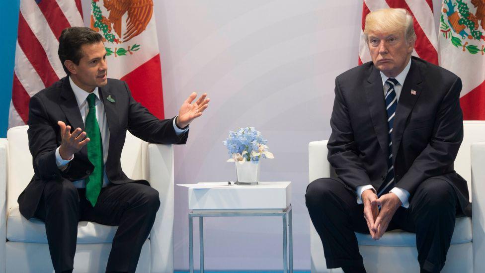 Enrique Peña Nieto, presidente de México, y Donald Trump, de Estados Unidos.