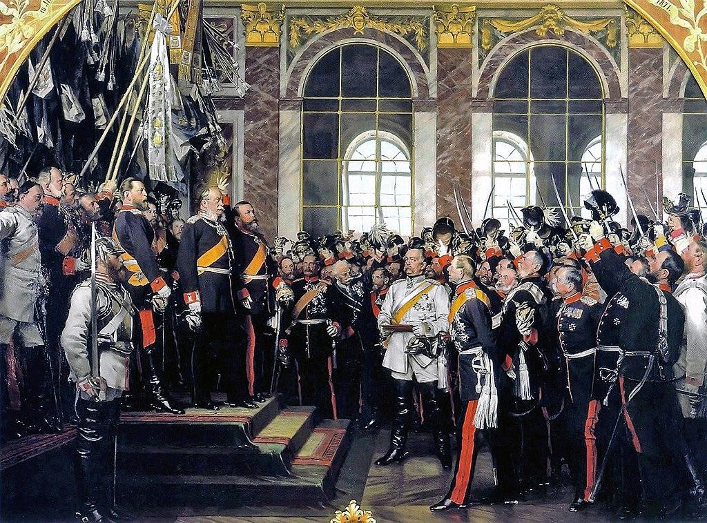 """""""Proclamación de Versalles"""" por Anton von Werner"""