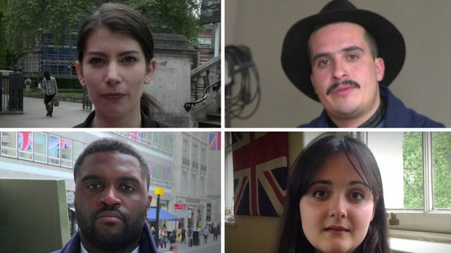 Collage of London Europeans