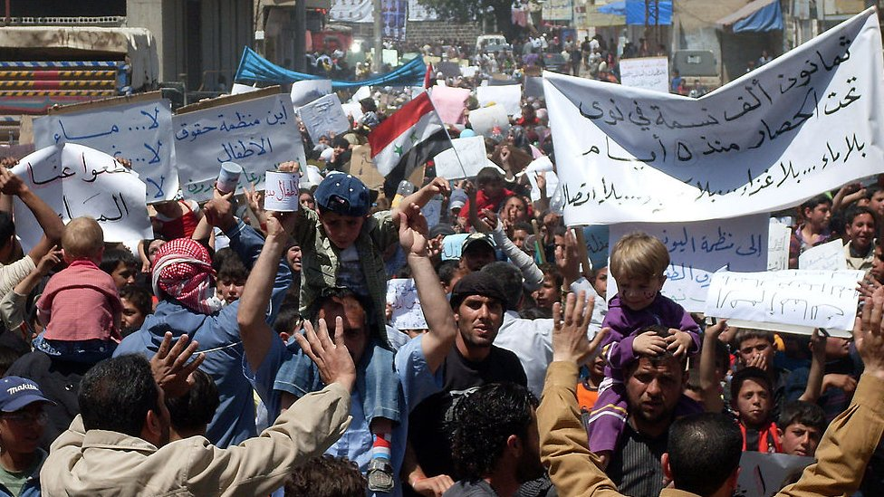 Anti-government protests in Deraa (28/04/2011)