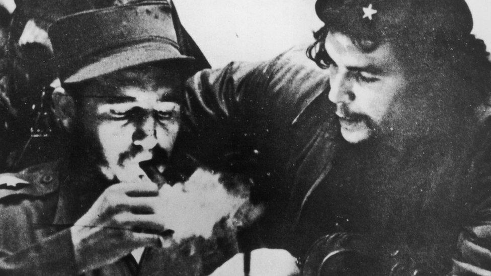 Fidel Castro y Ernesto ´Che´ Guevara.