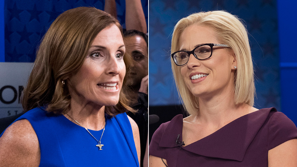 Martha McSally y Kyrsten Sinema, candidatas al Senado por Arizona