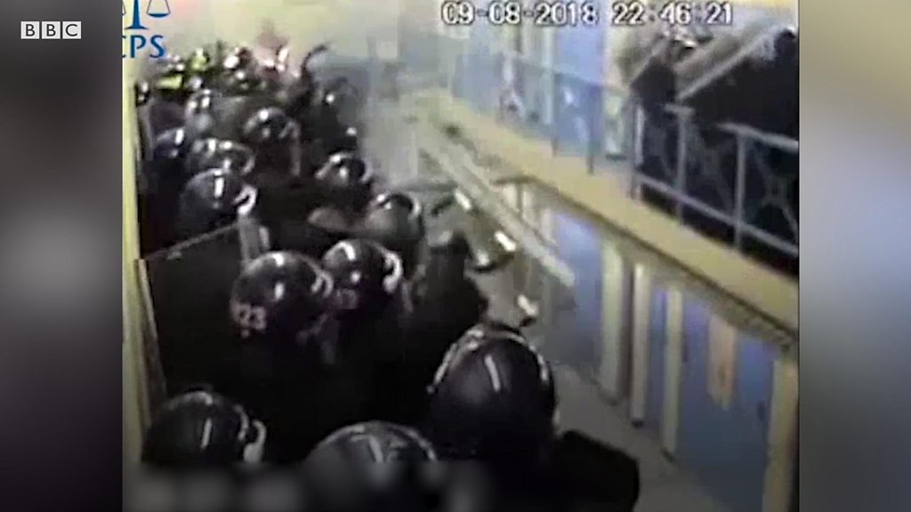 Full Sutton Prison rampage caught on camera