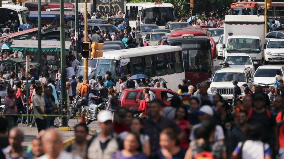 Calles colapsadas en Caracas