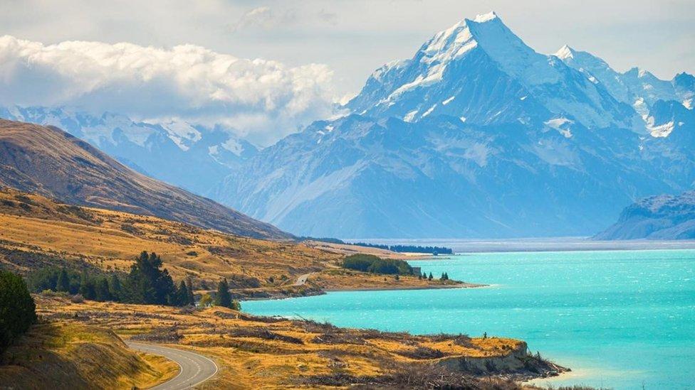 Un paisaje de Nueva Zelanda