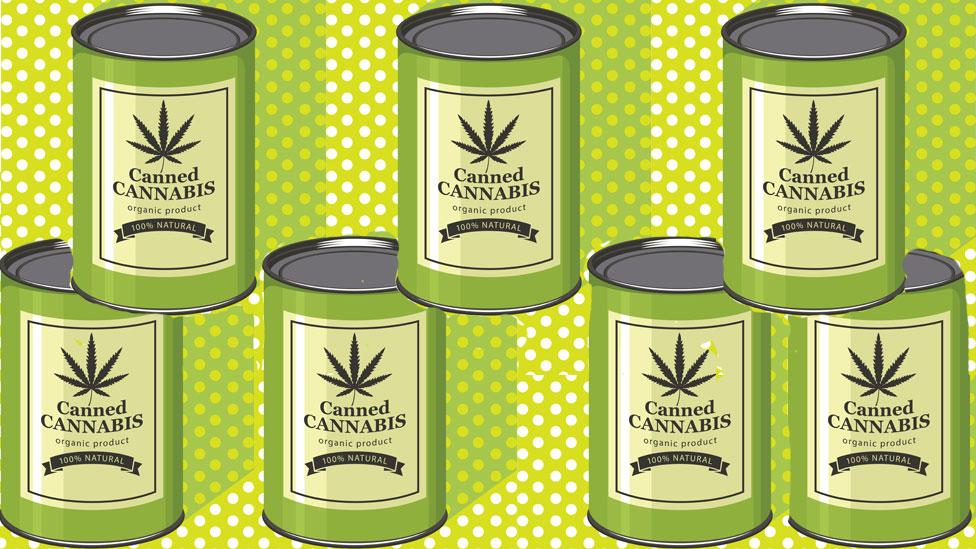 Latas de marihuana