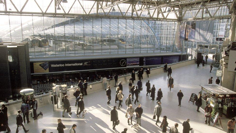 Waterloo International Station, the original home of the Eurostar until 2007.