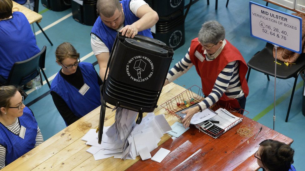 The Mid-Ulster count gets underway in Ballymena