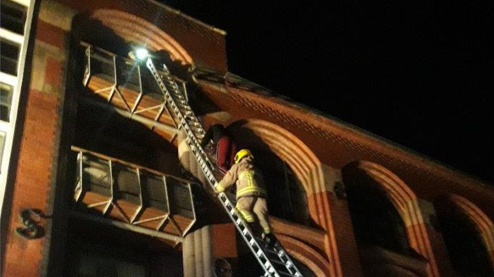 Three rescued from Liverpool city centre flat fire