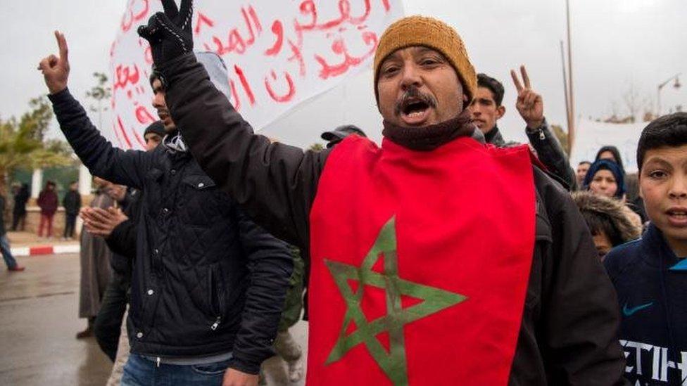 متظاهرون مغربيون