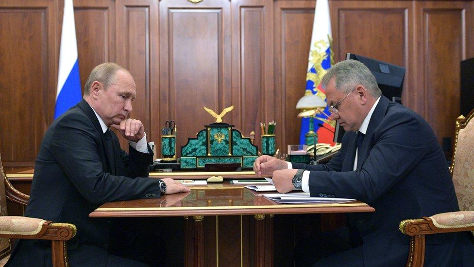 Vladimir Putin i Sergej Špojgu
