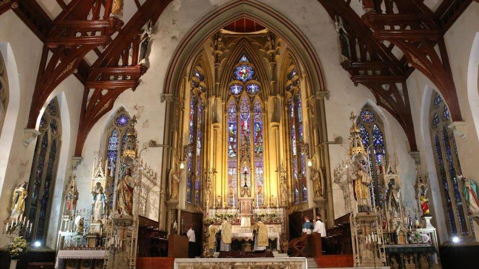 St Walburge's Church interior