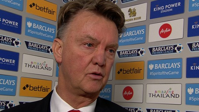 Leicester 1-1 Manchester United: Van Gaal disappointed with draw