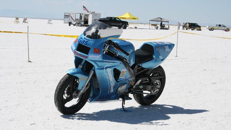 Manx Rider Breaks World Speed Records On Homemade Motorbike Bbc News
