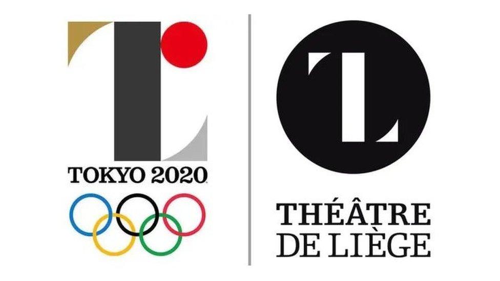 Logo lama Tokyo 2020 dan logo Theatre de Liege